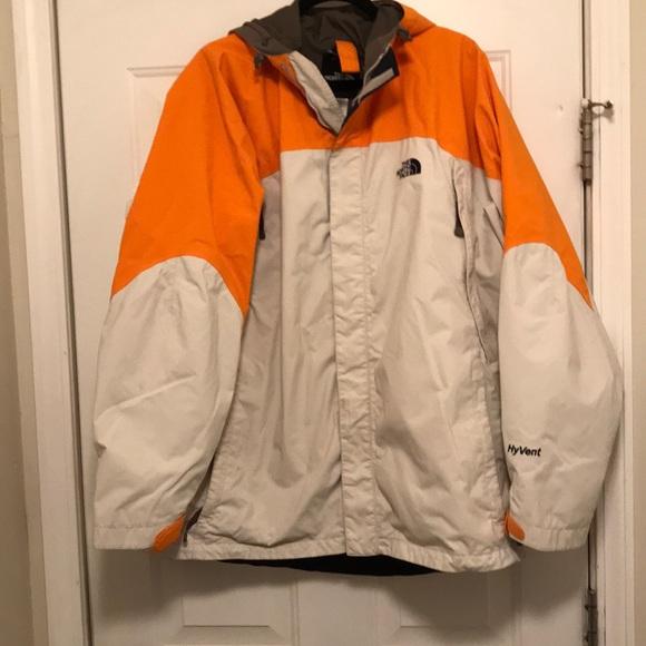 16f7a961d Men's Northface orange and cream jacket